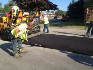 Smoothening out the asphalt patch