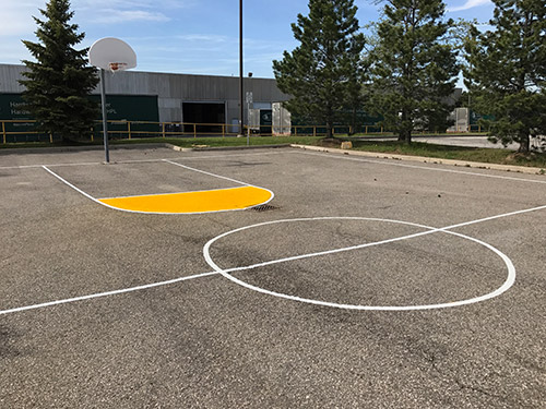 Sport court line painting